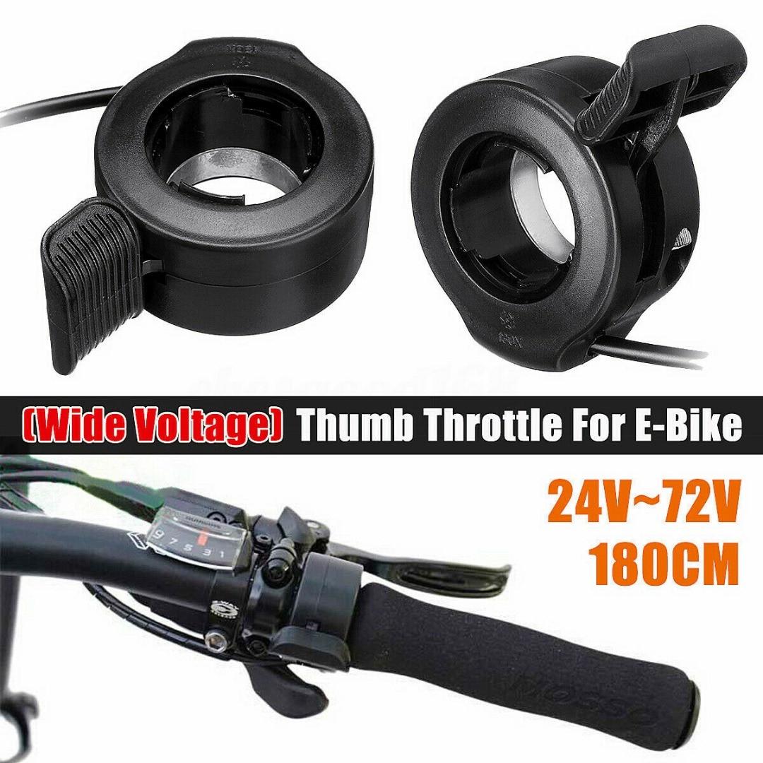 24V/36V/48V/60V/72V Thumb Throttle Speed Regulation Controler For Electric Bike Scooter Universal Accelerator Speed Controler