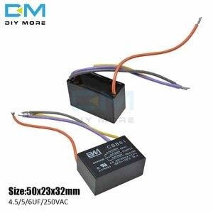 CBB61 4 провода 4,5/5/6 мкФ, емкость для запуска переменного тока, конденсатор, Клемма, потолочный вентилятор, мотор, прямоугольный конденсатор ...