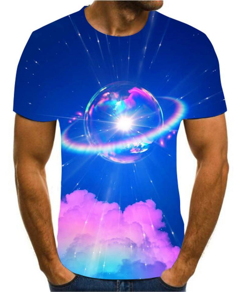 Popular 3d Printing Astronaut /Landscape /Creative Design Men 'S And Women 'S Summer Color T -Shirt Cool Casual Versatile S -6xl