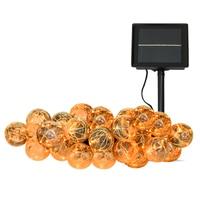 Solar Power LED String Light Big ball 25 Bulbs LED Fairy Light Solar Globe String Bulb Garden Wedding Party Hanging Decorative