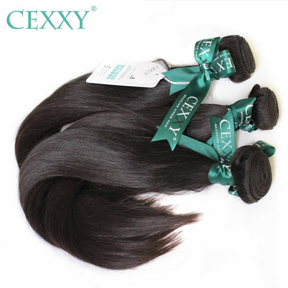 CEXXY 12A Bulu Rambut Diproses Perawan Gadis Muda Manusia Menenun Perawan Rambut Brazilian Rambut Menenun Warna Alami