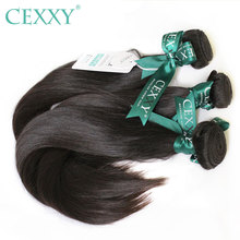 CEXXY 12A Mink Hair Unprocessed Virgin Young Girl Human Weave Virgin Hair Straight Brazilian Hair Weave Bundles Natural Color