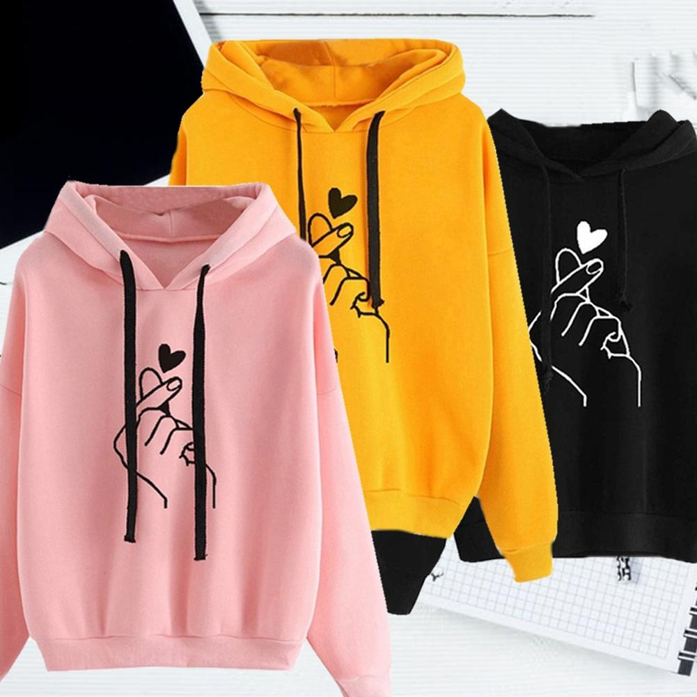 Women Sweatshirt And Hoody Ladies Hooded 2019 Printed Casual Pullovers Girls Long Sleeve Spring Autumn Winter Striped Plus Size