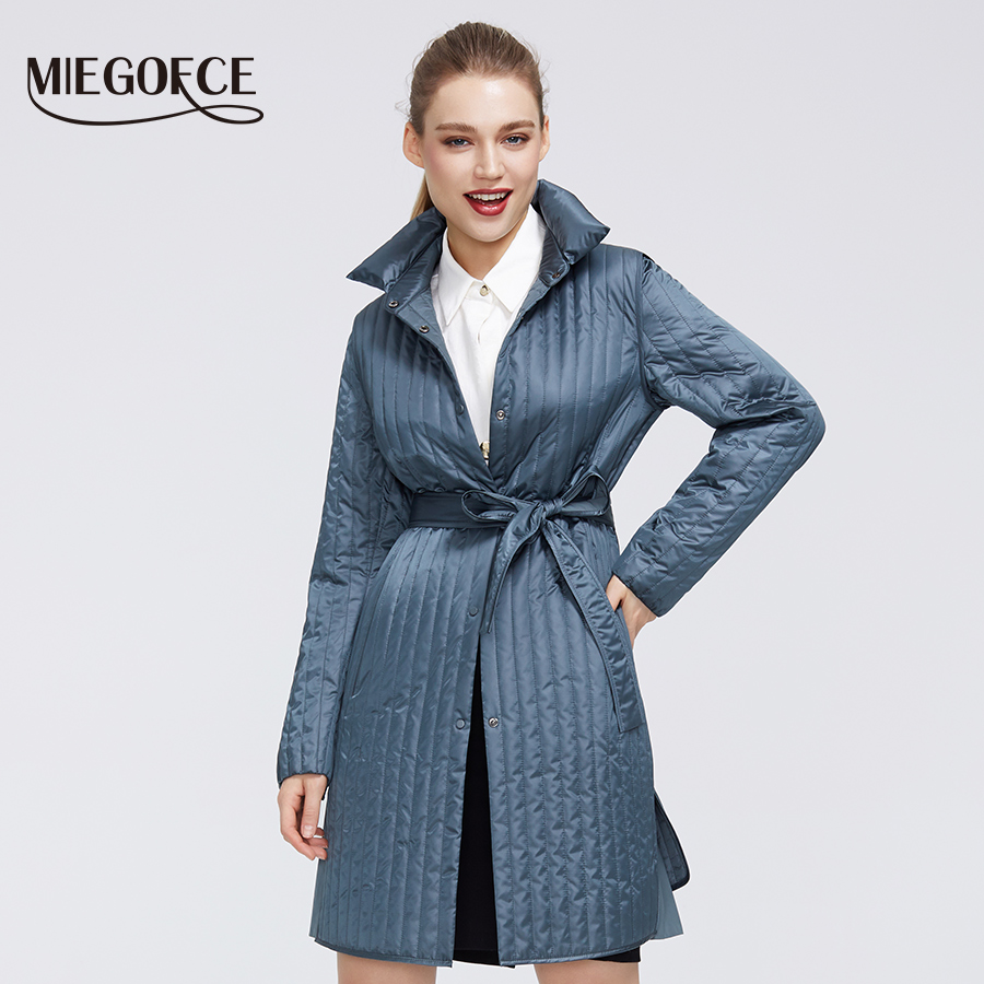 MIEGOFCE 2020 New Spring- Autumn Collection Warm Cotton Women Coat High-Medium-Quality Long-lasting Collar Windproof Warm Jacket