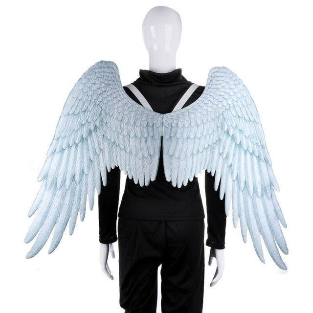 Angel Devil Big Wings Halloween Costume Mardi Gras Theme Party Adult Kids Cosplay Props Big Black Wings Costume