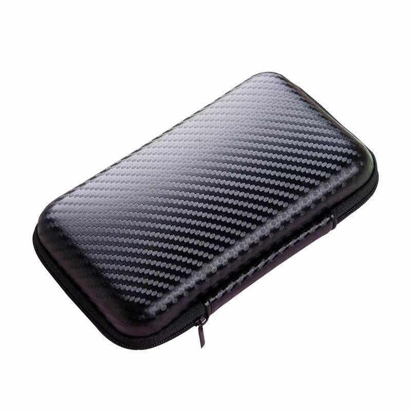 1 Uds. Caja dura de almacenamiento HDD SSD bolsa para 2,5 disco duro banco de energía cargador de Cable USB Banco de la energía auricular caso negro