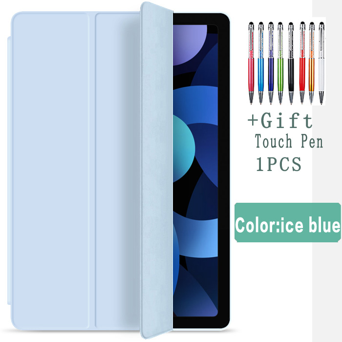 ice blue-Air 4 Other Flip Case For iPad Air 4 10 9 2020 Silicone Cover For iPad Air 4th generation