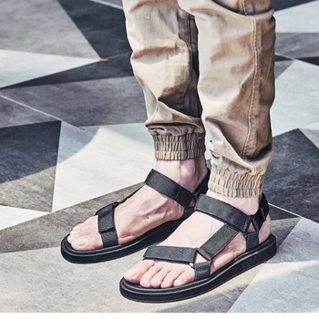 Roman Sandals Men 2020 New Summer Sandal Shoes Men Soft Bottom Beach Shoes Casual Sandals and Slippers Sandalias Mujer, 38-45