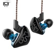 KZ ES3 1DD 1BA Hybrid Dynamic And Balanced Armature Earphone In Ear HIFI Stereo Sport Headset Suitable Bluetooth 100% Original