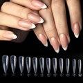 120 шт. Верхние формы на ногти накладные ногти миндаль формы для наращивания типсы для ногтей зажимы для ногтей инструменты для стройки все д...