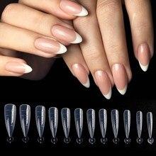 120 Uds Dual formas de uñas falsas consejos uñas de estilete de moldes Acrygel dedo construcción rápida Clips manicura herramientas GL1907