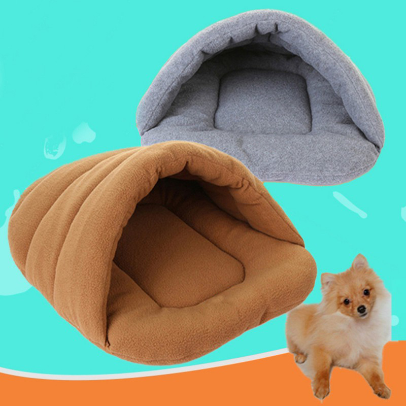Pet Cat Bed Small Dog Puppy Kennel Sofa Polar Fleece Material Bed Pet Mat Cat House Cat Sleeping Bag Warm Nest High Quality in Houses Kennels Pens from Home Garden