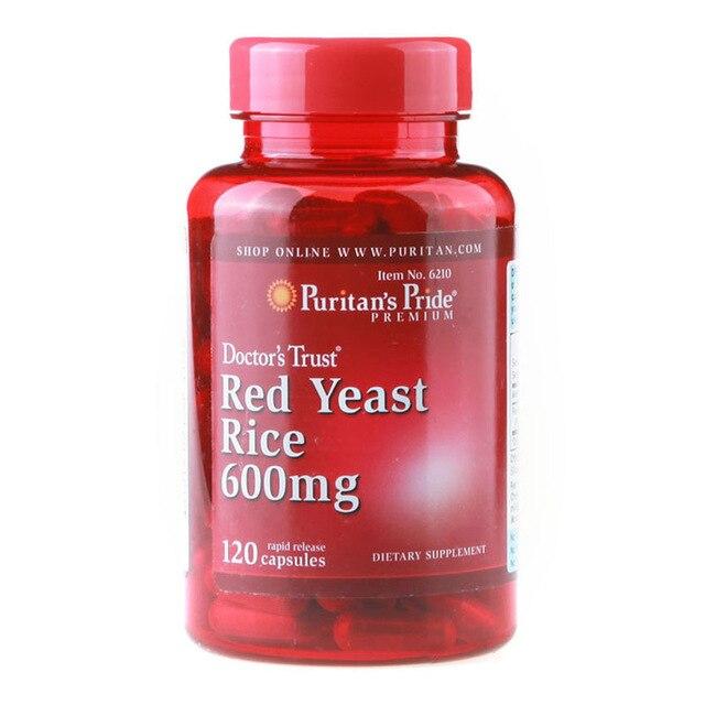 Бесплатная доставка красный дрожжевой рис 600 мг 120 шт