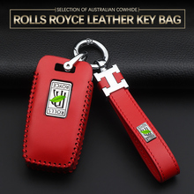 Nadaje się do Rolls Royce futerał na klucze torba skórzany pokrowiec Yingying guste skórzany na klucze pokrywa phantom car skórzany na klucze pojemnik na klucze pierścieniowa klamra tanie tanio CN (pochodzenie) Górna Warstwa Skóry Badge key box key chain