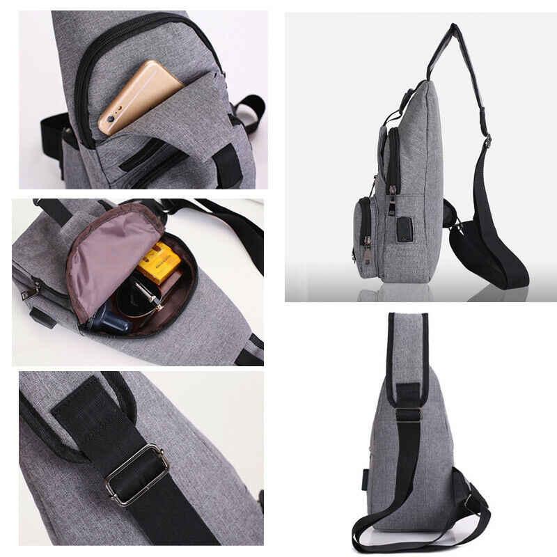 Hommes femmes Nylon taille Packs sac à bandoulière bandoulière Sport de plein air épaule poitrine Cycle quotidien voyage pique-nique toile sac de messager