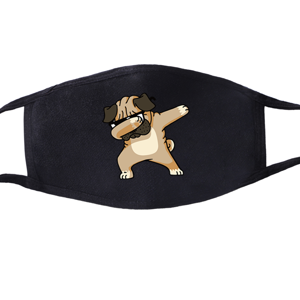 Dog Dabbing Anti Dust Face Mouth Mask Reusable Breathable Masque Protective Children Kid Cartoon Cute Anti-Dust Mouth Face Mask