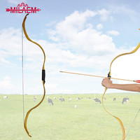 25lbs Traditional Archery Hunting Bow Outdoor Shooting Recurve Bow Mongolian Horse Longbow Entertainment Arc Moon Bow Equipment