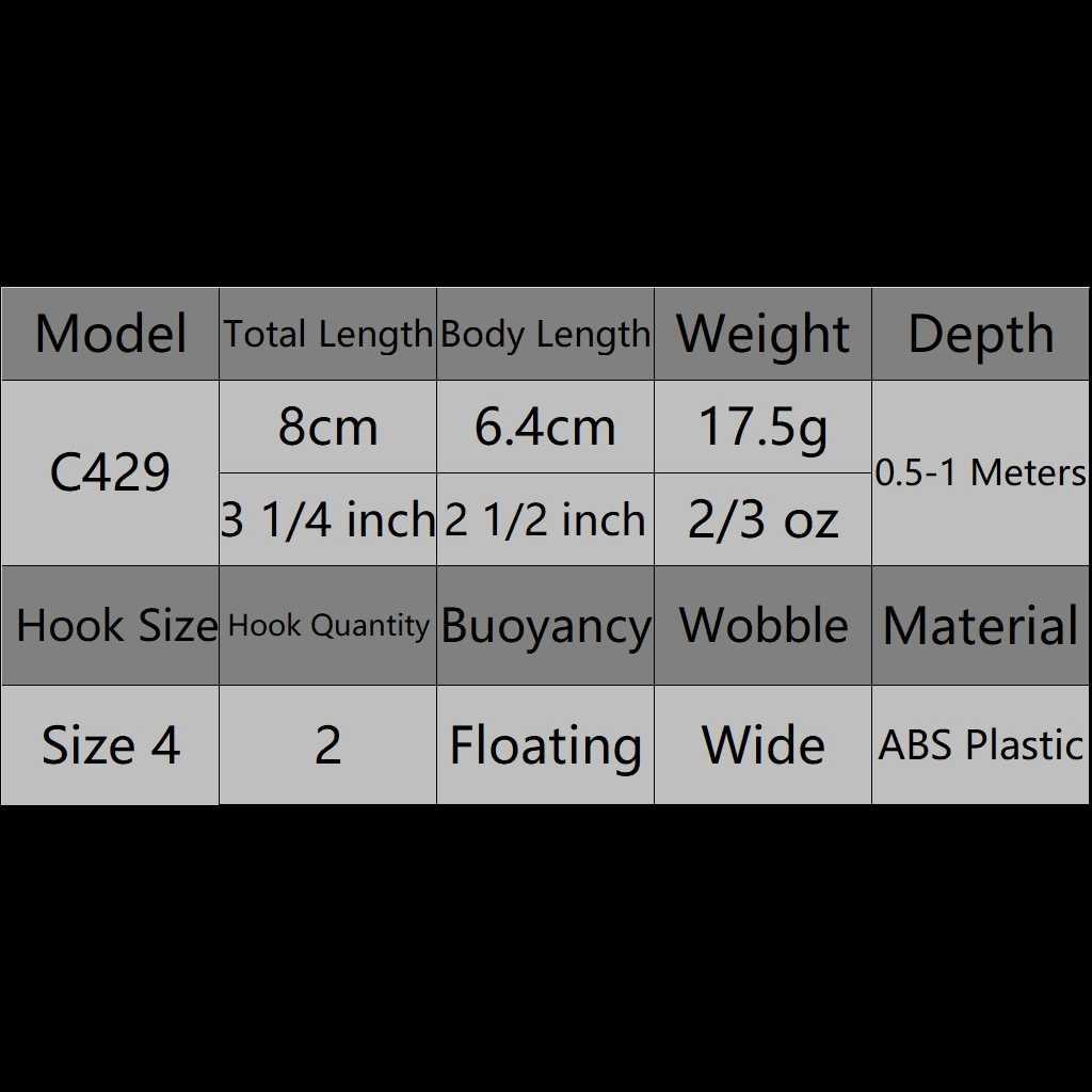 WLure 8.3 centimetri 14.3g Piazza Disegno di Legge Grasso Dimensioni Del Corpo Forte Suono 1 Metro di Profondità #4 Treble Ganci Assortiti colori Crankbait di Richiamo di Pesca C429