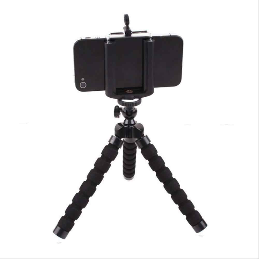 Flexible Sponge Octopus Mini Tripod With Wireless Remote Shutter For iPhone mini Camera Tripod Phone Holder clip stand