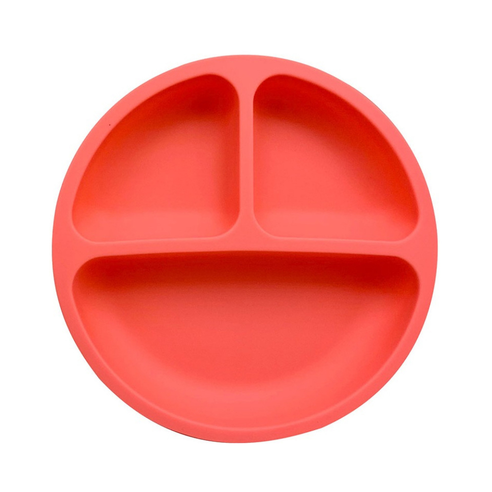 Baby Feeding Bowl Dishes Silicone Plate With Suction Cup Strong Sticky Divided Silicone Food Plate Children's Creative Section