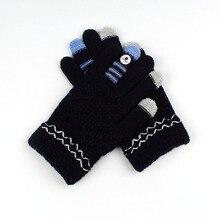 Новые женские перчатки для осени и зимы, перчатки с сенсорным экраном и пятью пальцами, теплые толстые офисные перчатки, вязаные женские перчатки для студентов