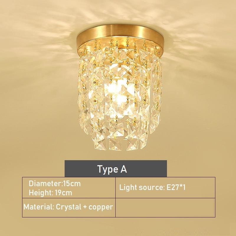 da lampada de cobre luz do corredor 05