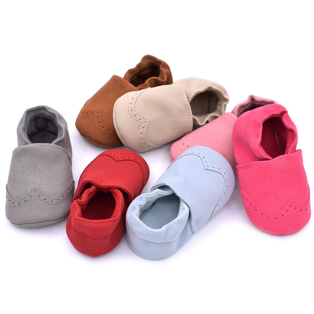 Newborn Baby Moccasins Toddler Infant Girls Boys Suede Leather Shoes Kids Prewalker Anti-slip Soft Bottom Shoes First Walkers