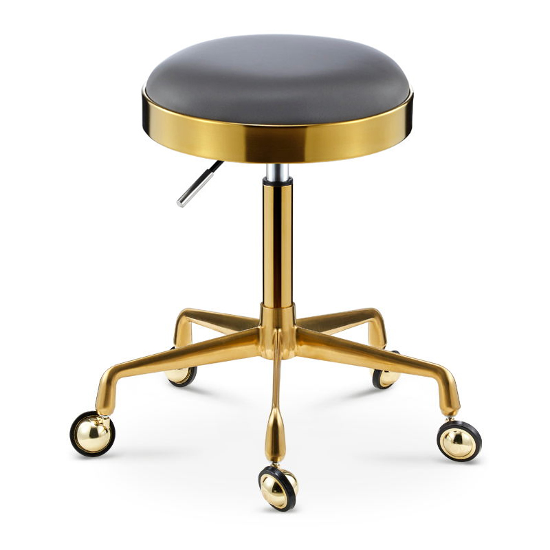 Beauty Stool Barber Shop Chair Rotary Lifting Salon Work Bench Pulley Stainless Steel Hair Cutting Stool