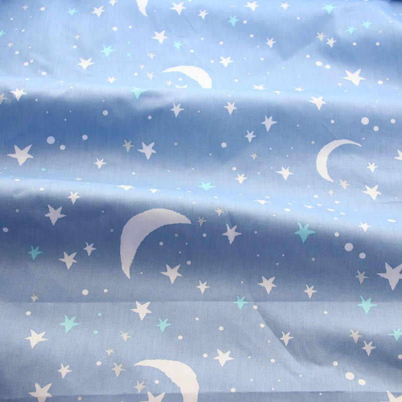 Statek kosmiczny wydrukowano 100% tkanina bawełniana do wyrobu sukienki poduszki koc do szycia dziecko dziecko prześcieradło tekstylne