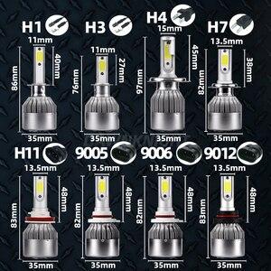 Image 5 - DAWNKNIGHT 2PCS H7 Led פנס C6 טורבו מאוורר 12V 6000K H4 H1 H3 H8/H9/h11 H27 880 9005/HB3 9006/HB4 9012 רכב Led מנורת סיטונאי