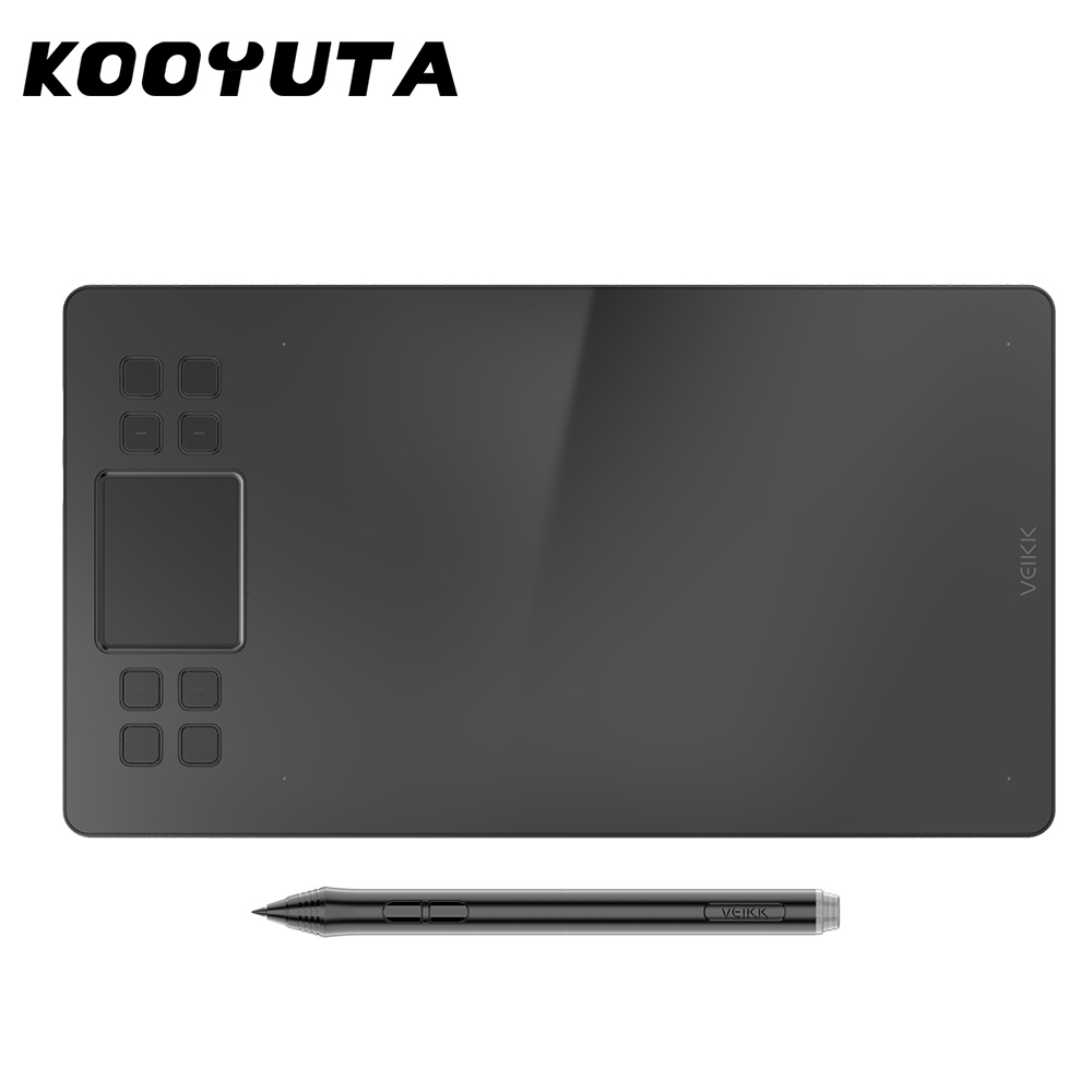 10 Shortcut Keys For Digital Drawing Board, Support Tilt And Radial Function, Battery-Free Pen Tablet For Drawing And Games