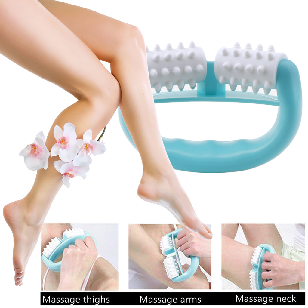 Anti Cellulite Muscle Massage Hand Roller Massage Stick Spiky Ball Trigger Points Myofascial Pain Relax