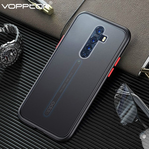 Frosted Translucent Case For OPPO Reno 2Z 2F 2 Z 10X Zoom Phone Case Silicone Frame Hard Clear Back Cover For Reno3 A91 A31(China)