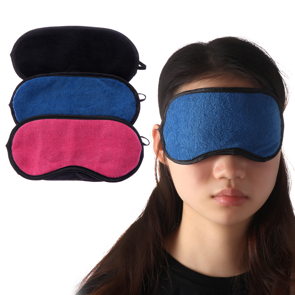1pcs Blue Rose Red Black Eyeshade Towel Goggles Sleeping Eye Mask Eyes Protection Blindfold Soft Cotton Eye Cover Eyepatch