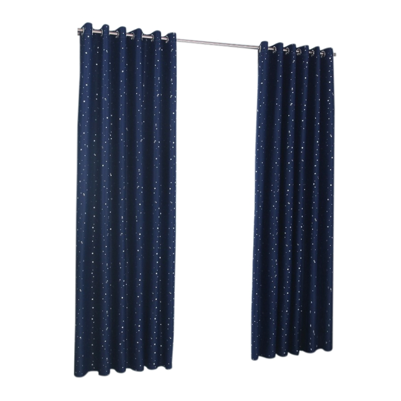 Shiny Stars Children Curtains For Kids Boy Girl Bedroom Living Room Blackout Cortinas Custom Made Drapes(Navy Blue)