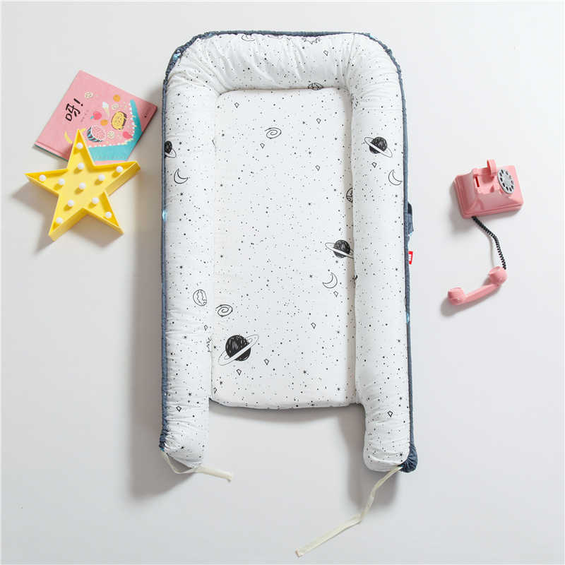 Cama biónica portátil nido niño cuna de algodón bebé cuna parachoques plegable dormir Babynest para recién nacido cama de viaje cuna