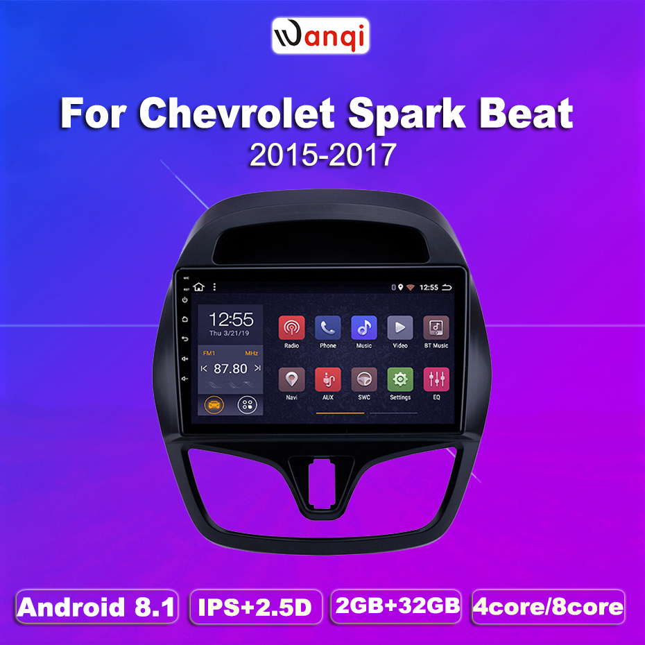 2G RAM 32G ROM android 8.1 Car DVD GPS Navigation Player Stereo For <font><b>CHEVROLET</b></font> 2015 2016 <font><b>2017</b></font> <font><b>Spark</b></font> Beat image