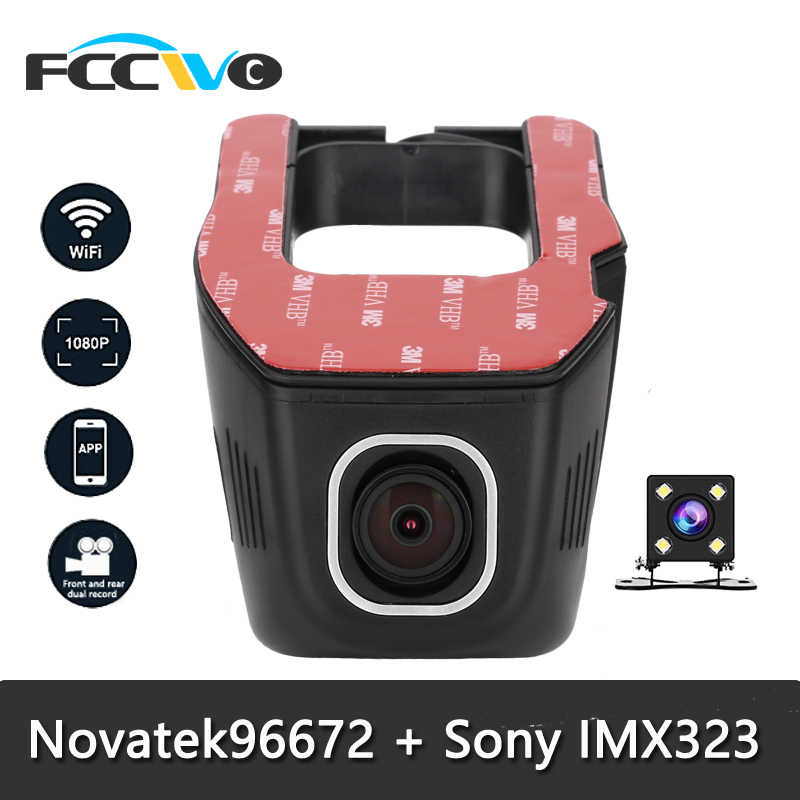 Fccwo F1 Dash Cam Novatek 96672 Sony IMX323 Wifi 1080P Auto Dvr Registrator Video Recorder Auto Camera Dashcam Dvr dash Camera