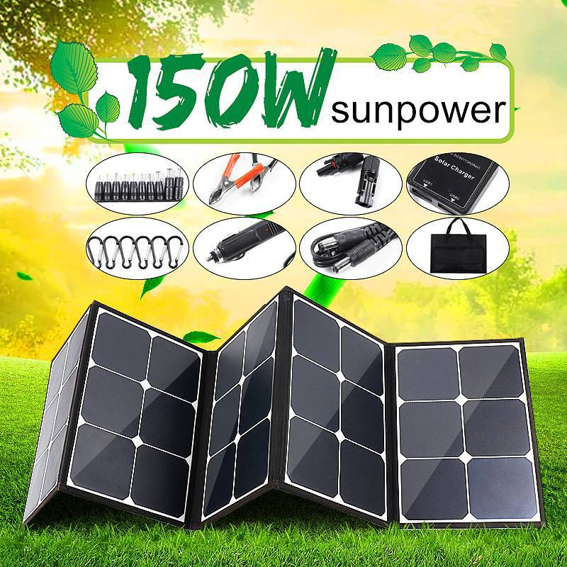 12v 300w painel solar ao ar livre dobravel portatil power bank placa de carregamento bateria para
