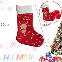 Ornament Xmas Sock Gift Christmas Deer Home Bag Holiday