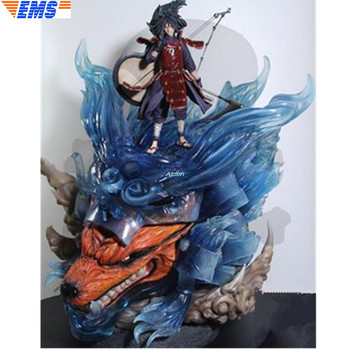 """24"""" NARUTO Statue Uchiha Madara Bust Susanoo Full-Length Portrait With LED Light GK Action Collectible Model Toy BOX 62CM Z2578"""