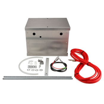 Complete Aluminum Battery Box Relocation Kit Universal Billet Street or Racing car