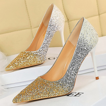 Luxury  Colorful Sparkly Sequin Pumps  1