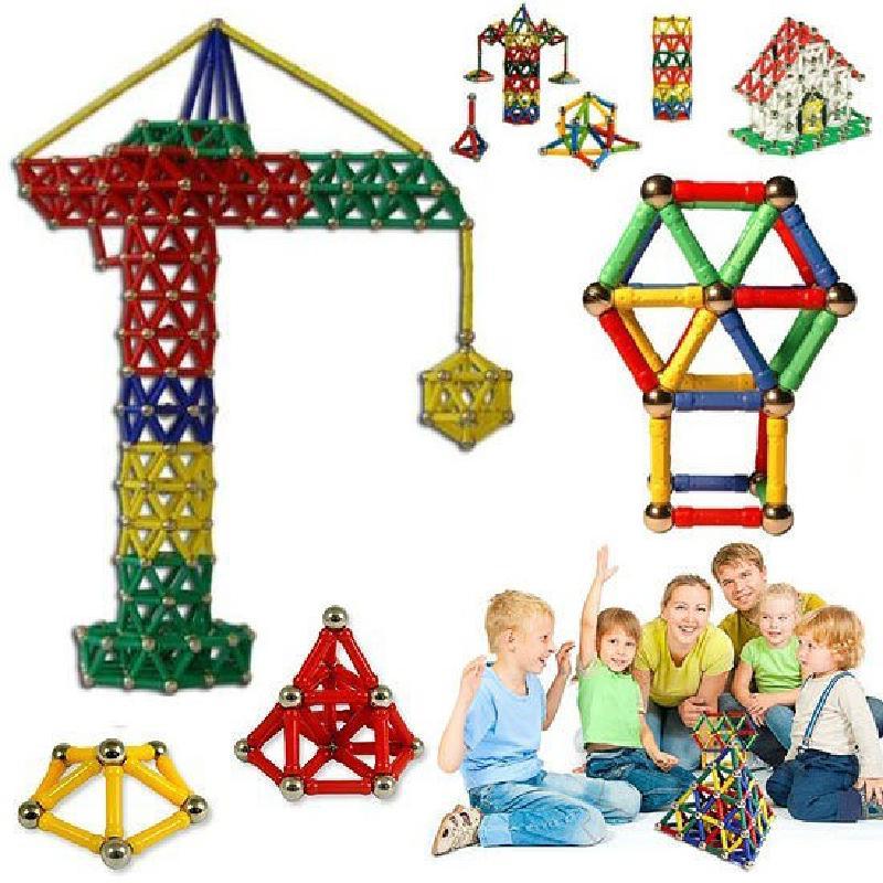103pcs Diy Designer Educational Funny Toysmagnet Metal Balls Kids Magnetic Building Blocks Toys Construction Toy Accessories Toy