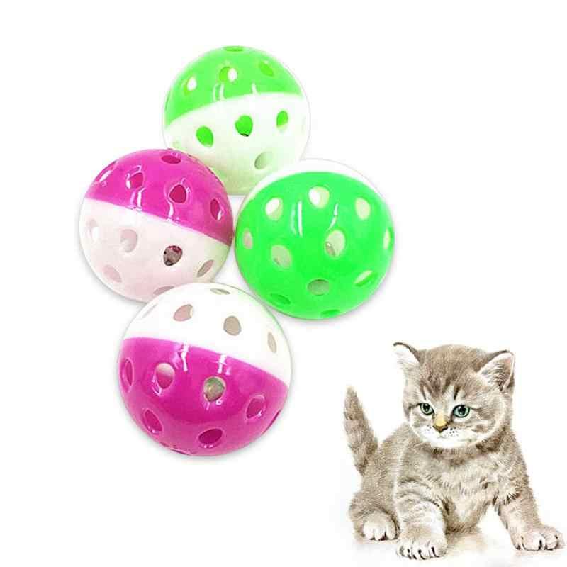 플라스틱 고양이 장난감 종소리 놀이 새끼 고양이 재미있는 게임 애완 동물 상호 작용하는 동물 운동 재미 있은 애완 동물 장난감 고양이 할로우 벨 공 뜨거운 판매
