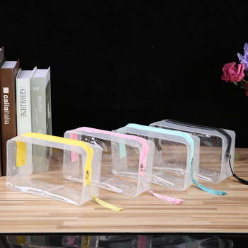 Whosale Travel Luggage Pouch Clear Transparent PVC Toiletry Bag Make Up Cosmetic