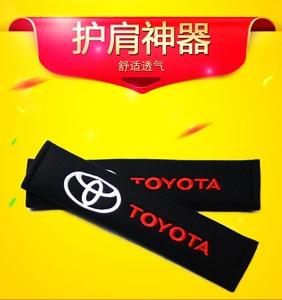 Накладка для ремня безопасности автомобиля стайлинга автомобилей Авто чехол для Защитные чехлы для сидений, сшитые специально для Toyota Corolla Rav4 Auris Camry Yaris CHR avensis аксессуары стильный автомобиль