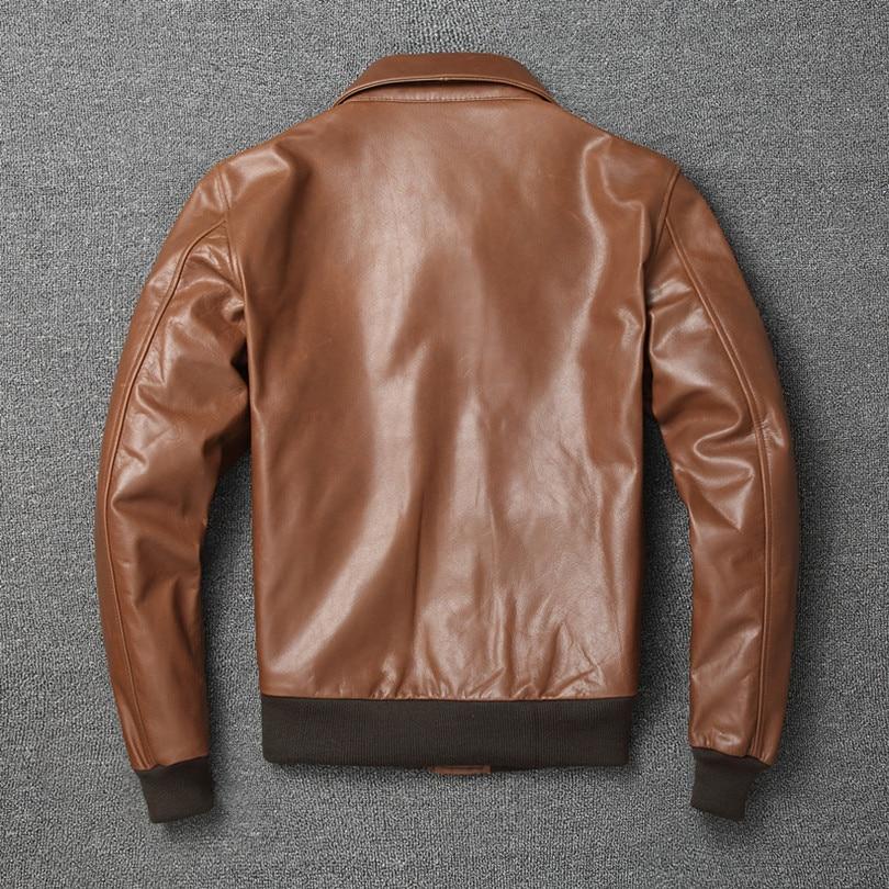 Hc6e80a72d2b14d52bddf65d02c6ffaa1U Free shipping.Warm Mens classic genuine leather Jacket,quality men's vintage flight jackets.Eur Plus size Casual A2 coat.sales