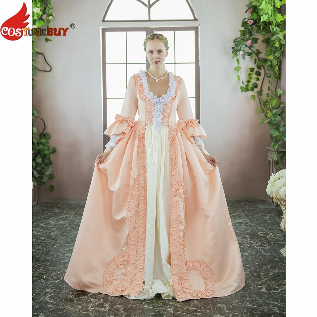 Costume victorien Marie-Antoinette Rococo Colonial géorgien robe de bal Baroque mascarade femmes robe de mariée rose sur mesure