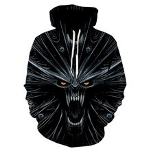 Terror Skeleton Skulls Hoodie Sweatshirt Men Women Halloween 3D Hoodies Sweatshirts Men Hip Hop Streetwear Hoody Sweat Homme(China)